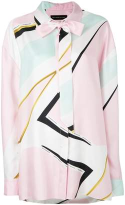 Alexandre Vauthier geometric print shirt