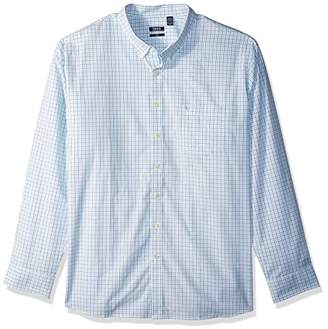 Izod Men's Size Essential Check Long Sleeve Shirt (Big Tall Slim)