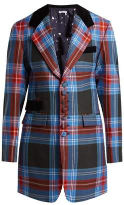 Charles Jeffrey Loverboy Tartan Wool Blazer - Womens - Blue Multi