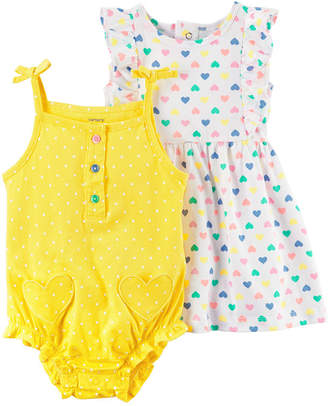 Carter's Cater's 2pc Creeper & Dress Set - Baby Girl