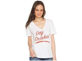 Original Retro Brand The Day Drinkin' Slub V-Neck Tee