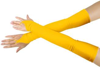Shinningstar Adults' Stretchy Lycra Fingerless Over Elbow Cosplay Catsuit Opera Long Gloves