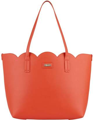 Harrods Orchid Scalloped Trim Tote Bag