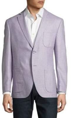 Silk & Wool Textured Jacket