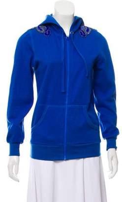 Anna Sui Embellished Hooded Sweatshirt