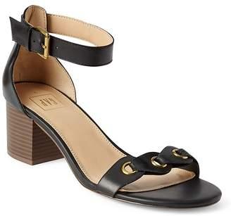 Gap Grommet Block Heel Sandal in Leather