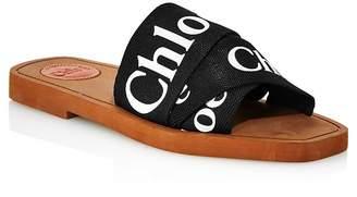 Chloé Women's Woody Logo Slide Sandals