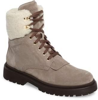 Moncler Patty Scarpa Faux Shearling Cuff Boot