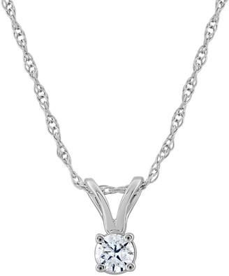 Affinity Diamond Jewelry Affinity 14K 1/10 cttw Round Diamond Pendant w/Chain