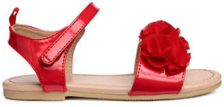 H&M Sandals with Applique - Red