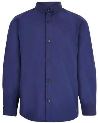 River Island Boys Cobalt Regular Twill Shirt - Brown