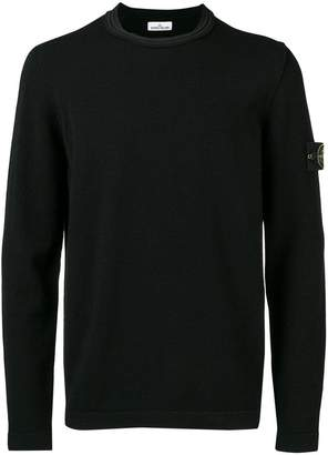 Stone Island double rolled edge collar sweater