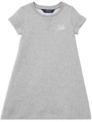 Polo Ralph Lauren Girls' French Terry Sweater Dress - Little Kid