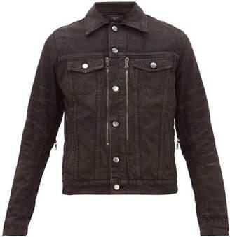Amiri Mx2 Distressed Denim Jacket - Mens - Black