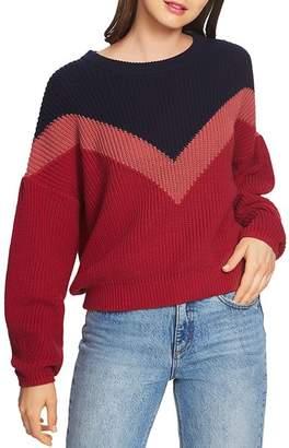 1 STATE 1.STATE Chevron Crewneck Sweater