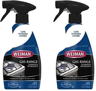 Weiman Gas Range Cook Top Cleaner and Degreaser - 12 Ounce 2 Pack - Removes Burnt On Food