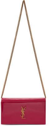 Saint Laurent Pink Patent Kate Wallet Bag