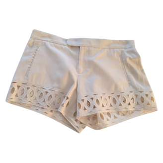 Catherine Malandrino White Silk Shorts for Women