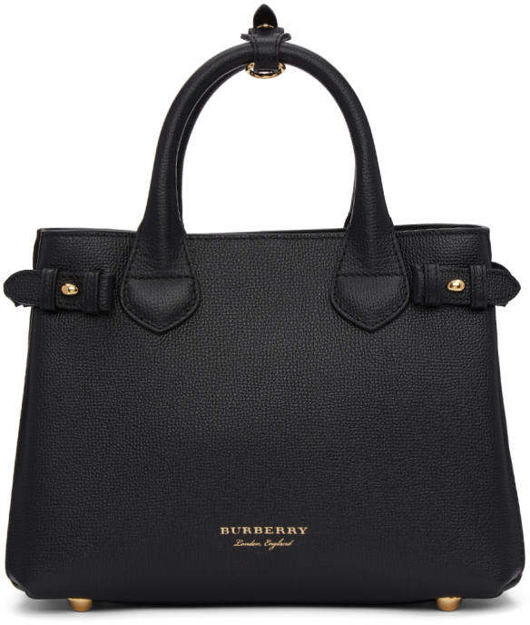 Burberry Black Small Banner Tote
