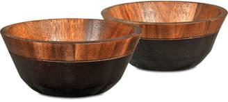 Noritake Serveware, Set of 2 Kona Wood Small Bowls