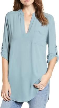 --- Perfect Roll Tab Sleeve Tunic