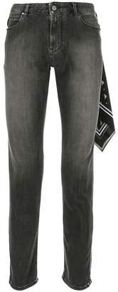 Emporio Armani scarf-detail skinny jeans