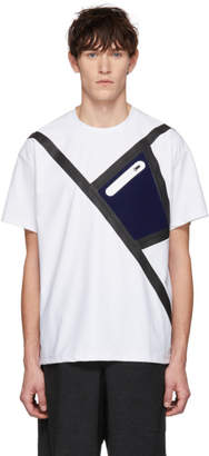Fumito Ganryu SSENSE Exclusive White Neoprene Tape Pocket T-Shirt