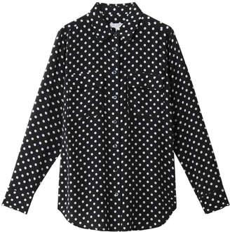 Equipment (エキプモン) - エキップモン SLIM SIGNATURE ドットプリントシルクシャツ