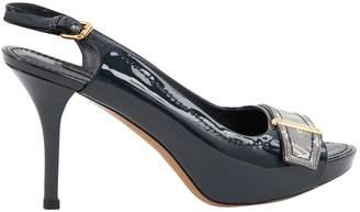 Louis Vuitton Navy Patent leather Sandals
