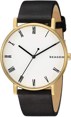 Skagen Men's 'Signatur' Quartz Stainless Steel and Leather Casual Watch, Color (Model: SKW6426)