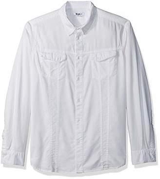 William Rast Men's Oak Long Sleeve Woven Shirt