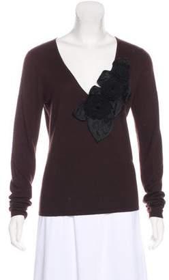 Naeem Khan Long Sleeve Cashmere Sweater