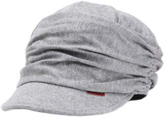 Express Kylin Fashion Design Beanie Hat For Ladies Drape Layers Peaked Cap Casual Cap Gray