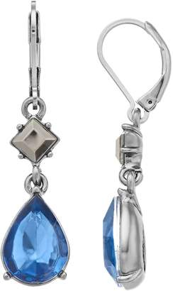 Vera Wang Simply Vera Blue Simulated Crystal Teardrop Earrings