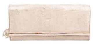 Diane von Furstenberg Metallic Leather Soiree Clutch w/ Tags