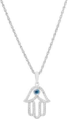 Affinity Diamond Jewelry Affinity Diamond Hamsa Necklace, Sterling