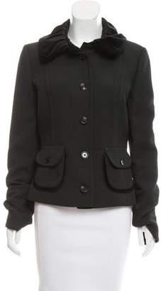 Dolce & Gabbana Velvet-Trimmed Matelassé Jacket
