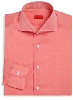 Isaia Regular-Fit Heathered Dress Shirt
