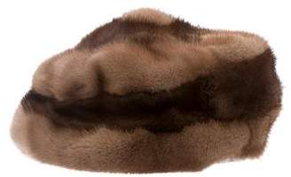 Fur Two-Tone Mink Beanie