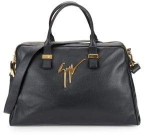 Giuseppe Zanotti Textured Leather Overnight Bag