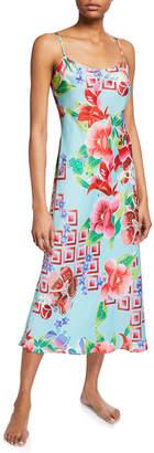 Natori Star Blossom Satin Slip Nightgown
