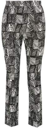 Max Mara Paggio Cropped Printed Cotton-Blend Straight-Leg Pants