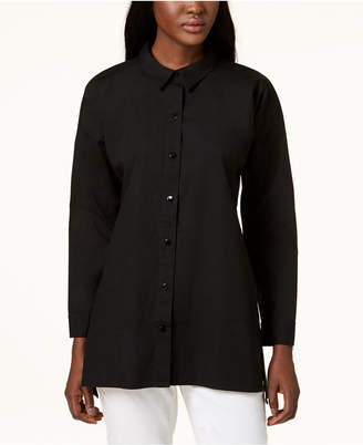 Eileen Fisher Organic Cotton Tunic Shirt, Regular & Petite Sizes