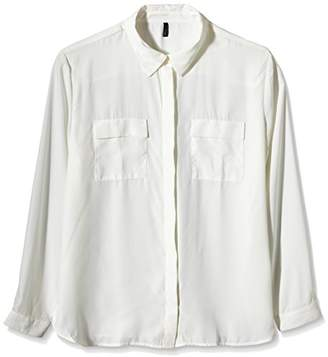 Benetton Women's Pocket Long Sleeve Blouse