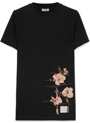 Loewe Printed Cotton-jersey T-shirt - Black