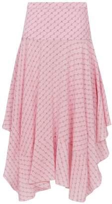 Stella McCartney Asymmetric Monogram Skirt