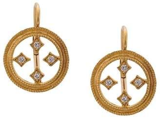 Cathy Waterman double-milgrain circular earrings