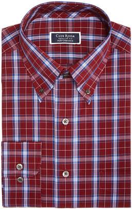Club Room Men Slim-Fit Performance Stretch Wrinkle-Resistant Assorted Plaid Dress Shirts