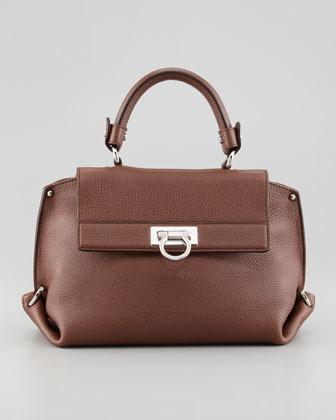 Salvatore Ferragamo Sofia Mini Satchel Bag, Taupe