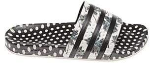 adidas Adilette Floral and Polka Dot Slides